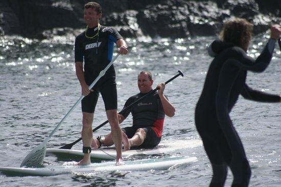 Corralejo Dunes: pro love2paddle surfers in el cotillo