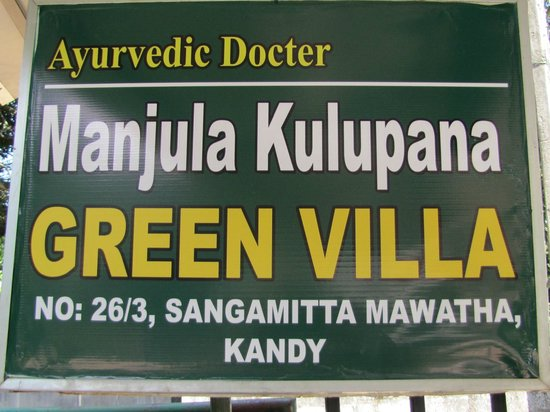 Green Villa Kandy: Name und Adresse