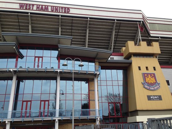 West Ham United Hotel: Outside the hotel and supporter store