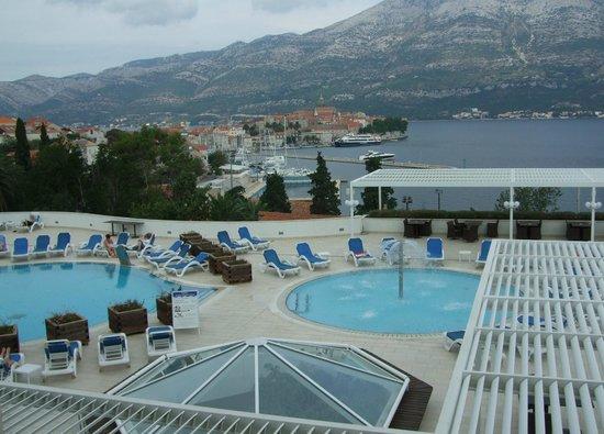 Marko Polo Hotel: view from juliet balcony