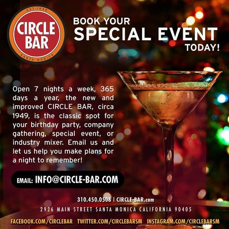 Circle Bar: Special Events