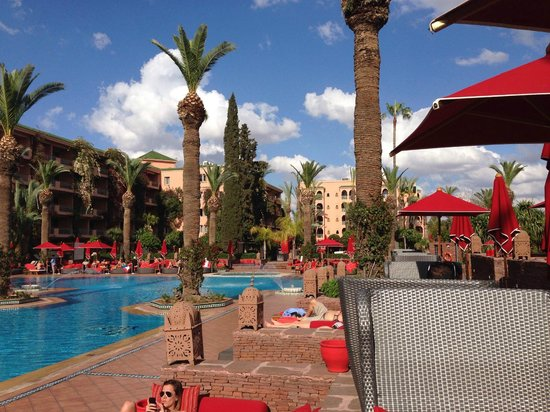 Sofitel Marrakech Palais Imperial : View from Pool Restaurant
