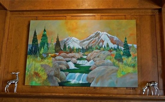 McCloud Hotel: New painting by Chris Messer in the hotel lobby!