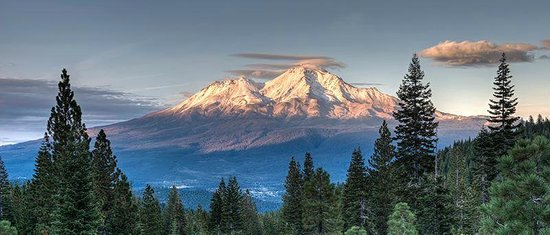 McCloud Hotel : The hotel sits on the southern slope of Mt Shasta