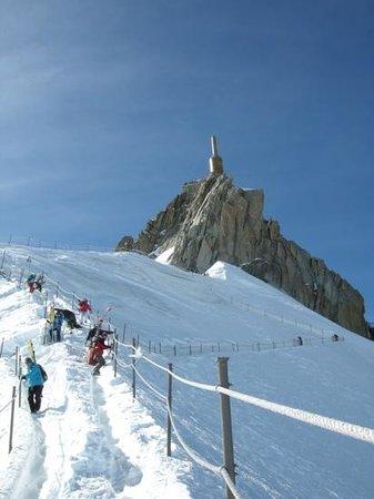 Aiguille du Midi: Vue depuis l'arrête