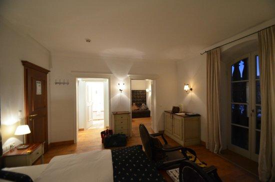 Seehotel Luitpold: Schlafraum, Ankleidezimmer, Badezimmer