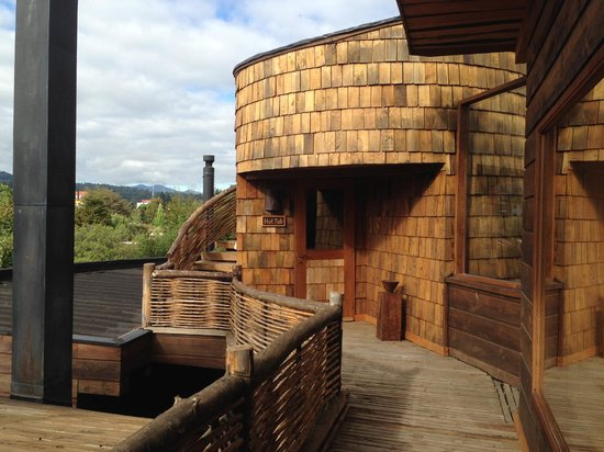 Aldea Naukana Posada Boutique : There's a hot tub on the roof