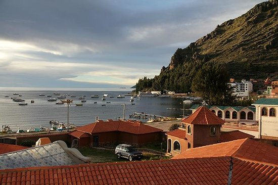 Hotel Rosario Lago Titicaca : View from room late afternoon.