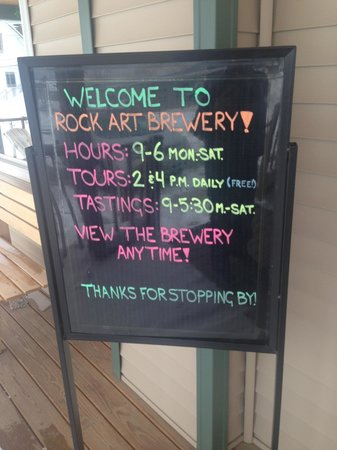 Rock Art Brewery : The tasting was plenty, no need for a tour