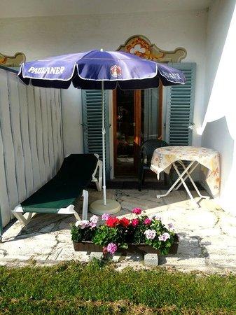 Alpenhotel Rieger: терраса одноместного номера