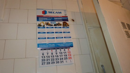 Hoteles Mar Azul: calendario en el baño