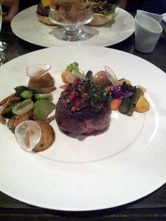 Restaurant Trio: Tenderloin with 2 chimichurris