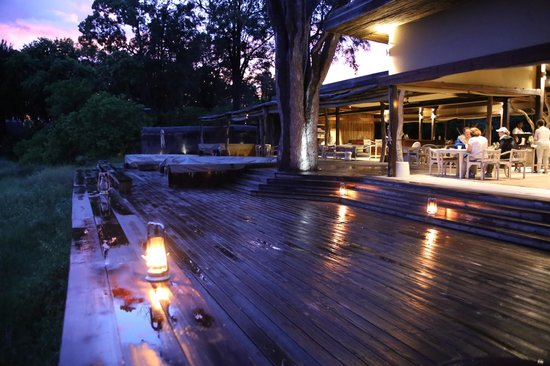 Wilderness Safaris Kings Pool Camp: deck in front of dining/reception
