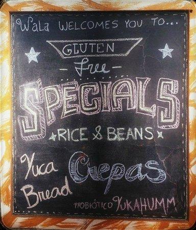 Yukawala: Menu of the day