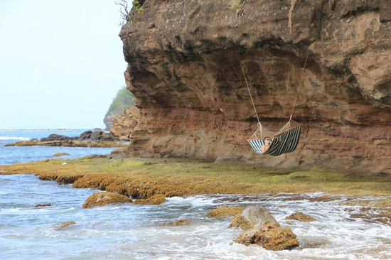 Cap Maison : relaxing hammock near the beach