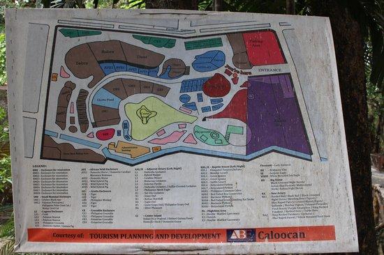 Manila Zoo: Map