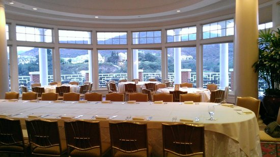 Sherwood Country Club: looking out from one of the function rooms on to the terrace
