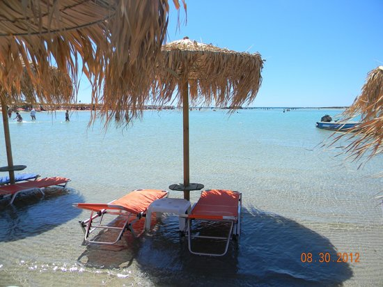 Plage d'Elafonissi : Elafonissi, beautiful beach but very windy