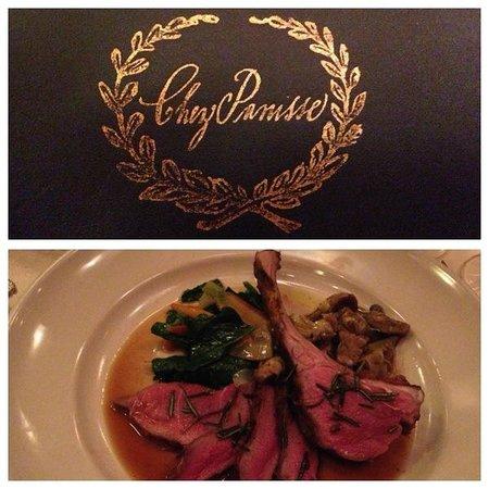 Chez Panisse: Our main course:  Full Belly Farm's lamb rack