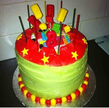 Silver Sparkle Cake Company Lego Birthday