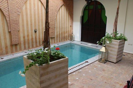 Riad Plein Sud : The courtyard outside our room