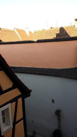 Hotel le Colombier : vue depuis le corridor