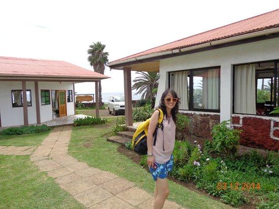 Taha Tai Hotel: Entrada hotel desde orilla de mar