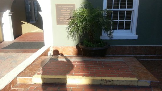 Hilton St. Augustine Historic Bayfront: Steps where MLK, Jr stood
