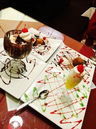 Baci Ristorante Italiano: The desserts we ordered