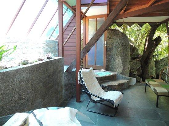 Aruna Eco Spa: Hall de entrada da piramide Aruna