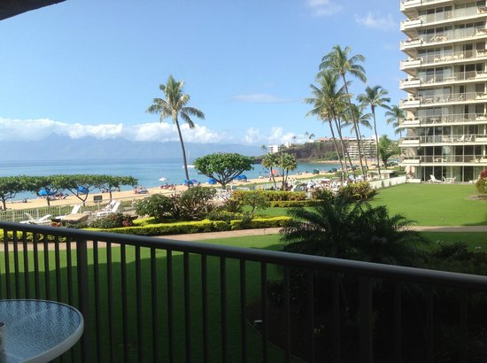 Aston at The Whaler on Kaanapali Beach: Lanai of unit 256; at one with the beach and gardens