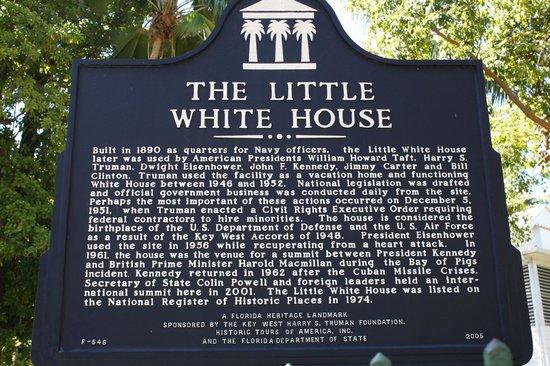 Harry S. Truman Little White House: historical plaque