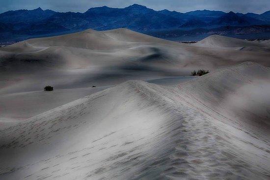 Mesquite Flat Sand Dunes: Surrealistic treatment of sand dunes