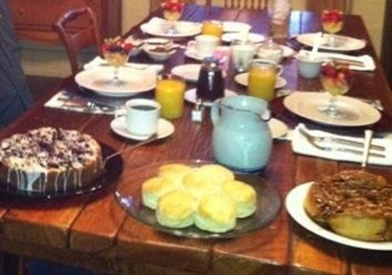 """The Great Oak B&B: The """"baked goods"""".  There was even more to come!  All was great."""