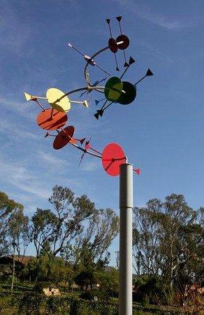 Alta Vista Botanical Gardens: 'Tail Spin' by sculptress Melissa Ralston