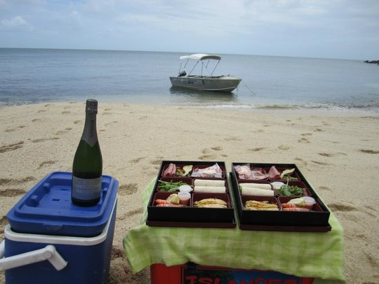 Lizard Island Resort: Picnic lunch on Watsons beach