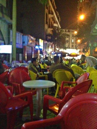 Freedom Hostel: street cafes