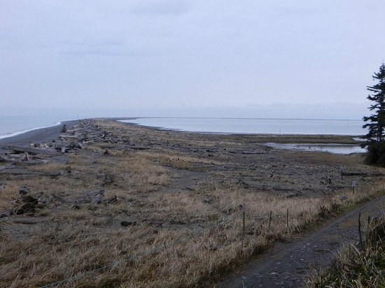 Dungeness National Wildlife Refuge: View of Dungeness Spit taken from the long walk uphill to the trailhead
