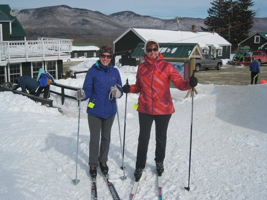 The Mountain Top Inn & Resort: Getting ready to cross country ski!!