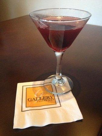 Gallery Restaurant at The Ballantyne Hotel: pomegranite martini