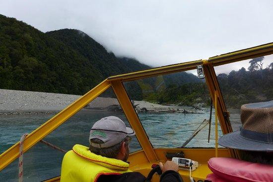 Waiatoto River Safari: Heading Up River