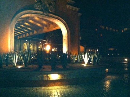 Playa Grande Resort: The Entry at Night