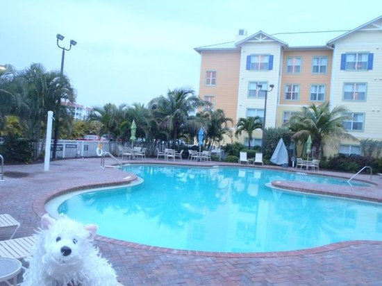 Residence Inn Cape Canaveral Cocoa Beach: Out at the pool