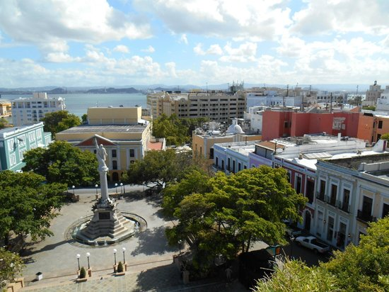 Posada San Francisco Old San Juan: View from 6th floor common area