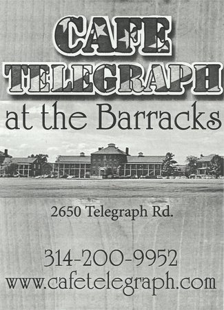 Missouri Civil War Museum: Cafe Telegraph. Nearest Restaurant to Museum.  2 min. west of Museum.