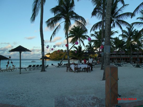 Pineapple Beach Club Antigua: View of Beach Area