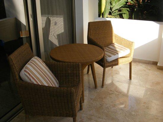 Grand Sunset Princess All Suites Resort: patio set on my deck