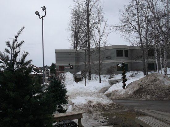 Crystal Mountain: Back side of the Hamlet Building