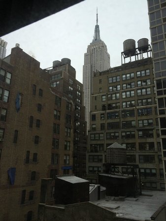 Refinery Hotel: View of the Empire State Building from our room