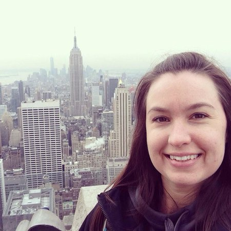 Observatorio Top of the Rock: The Empire State Building behind me